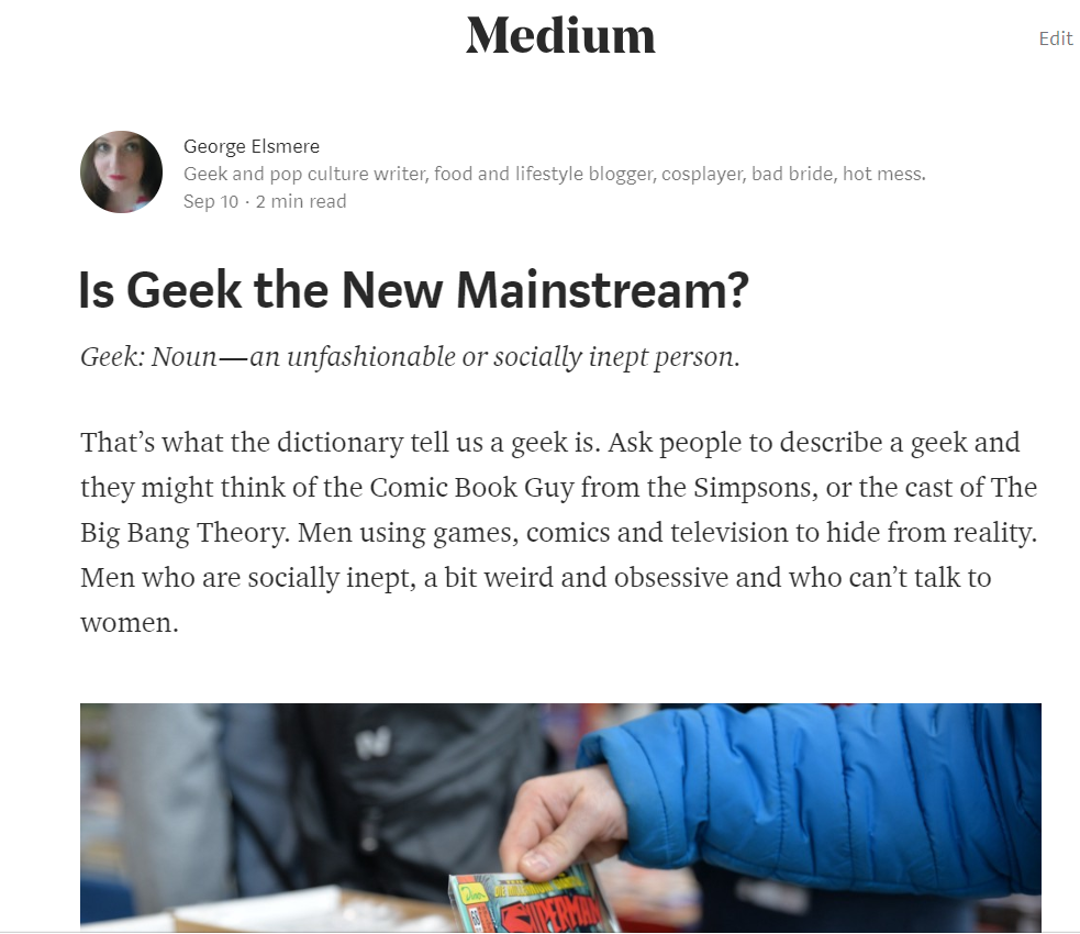 Is Geek the New Mainstream?