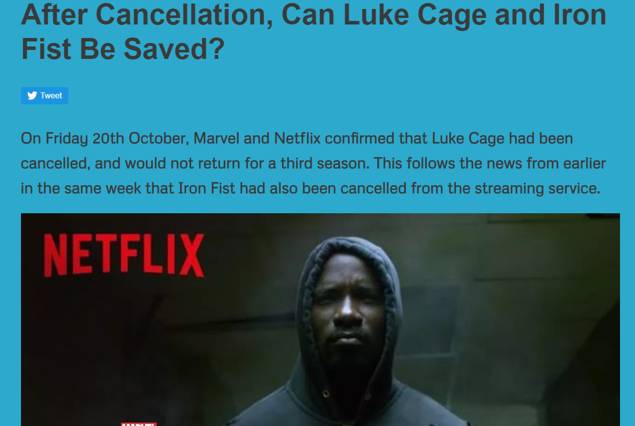 After Cancellation, Can Luke Cage and Iron Fist Be Saved?